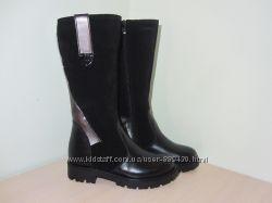 Зимние кожаные сапоги ботинки для девочки Tobi арт. 0161-04 р. 33-36 шкірян
