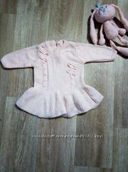 Платье вязаное на малышку