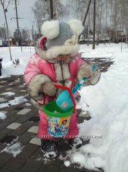 Зимний комбинезон с курточкой на девочку 2-3 года
