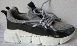 Chanel Женские стильные кроссовки текстиль с натур кожей в стиле Шанель 35d814f53ca