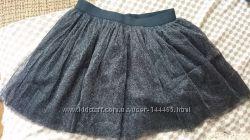 Красивая черная фатиновая юбка