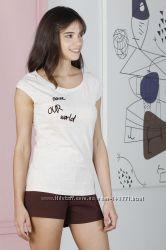 07f5d59817c4 Женская пижама HAYS 19157, футболка и шорты. Коллекция HAYS Зима 2019