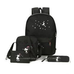 Набор для школы рюкзак, пенал, сумочки