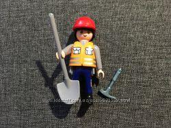 Playmobil строитель каток и тачка