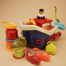 Игровой набор -ЛОВИСЬ, Рыбка для игры в ванной, 12 аксессуаров