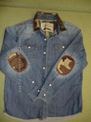 Джинсовая модная рубашка Next на 8-9 лет