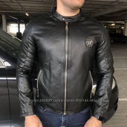 Кожаная куртка Jacket Philipp Plein Moto Original Black