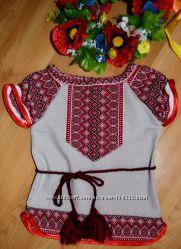 Вышиванка для маленькой украиночки, можно как платье