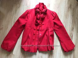 Пальто ярко красное Sisley Франция для подростка или стойной девушки
