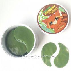 Корейские зеленые енотики Marine Racoony Hydrogel Eye Patch
