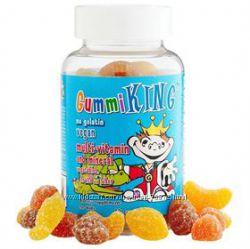 Gummi King,  мультивітамінно-мінеральна добавка, з овочами, фруктами