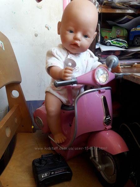 Скутер на пульте мопед для Baby Born Zapf Creation бэби борн мотороллер