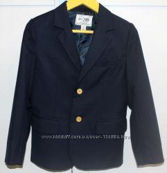 Школьный пиджак для мальчика в темно-синем цвете , р. 7-9 лет