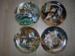 Тарелки, серия, Приключения бархатных лапок, котята, Германия