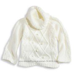 Беленький свитерок с шерстью для девчонок с сайта C&A, р-ры 116, 122