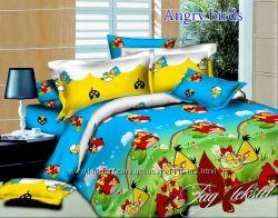 Полуторная постель Angry birds, ранфорс, и другие