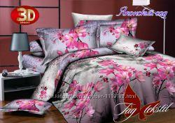 постель 1, 5, двухспальная, евро, ткань ранфорс