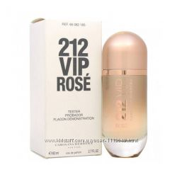 Carolina Herrera 212 Vip Rose edp 80 ml тестер оригинал без крышки