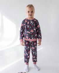 Тёплые хлопковые байковые пижамы для девочек  ТМ Nicoletta, Турция.