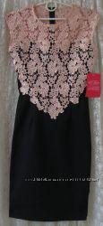 Платье элегантное нарядное красивое кружево Paper Dolls р. 42 6519