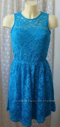 Платье нарядное кружевное с пайетками мини Sisters point р. 40-42 6532