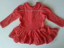 Платье  верюровое 80-86 см