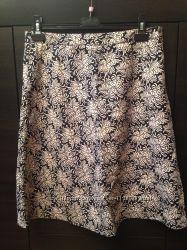 Летняя коттоновая юбка на подкладке Gap