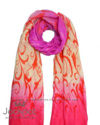 Стильный женский шарф градиент узор