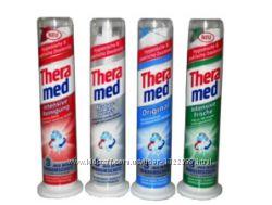 Зубная паста Theramed, Aquafresh с дозатором 100 мл