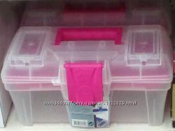 Скидка. Ящик для инструментов прозрачный 30х16, 7х15 см