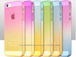 Чехол силиконовый с градиентом для Iphone 5 5S