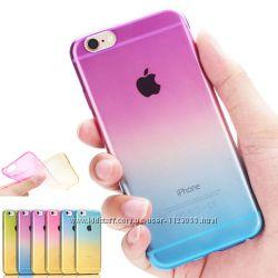 Чехол силиконовый с градиентом для Iphone 6 6S