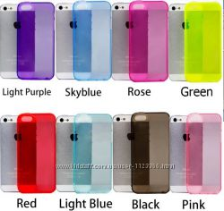 чехол силикон разные цвета iPhone 4 4s 5 5s se 6 6s 6plus