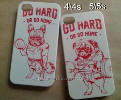 Чехол iphone  айфон 4 4s 5 5s se dog собака