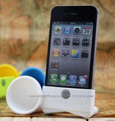 Подставка громкоговоритель усилитель для iphone 4 4s 5 5s se силикон
