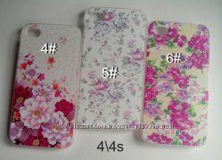 чехлы iphone 4 4s 5 5s se 6 6s 6plus цветы