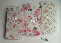 Чехлы на iphone 4 4s 5 5s se 6 6s 6 6plus цветы