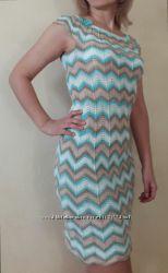 Платье вязаное в стиле Миссони