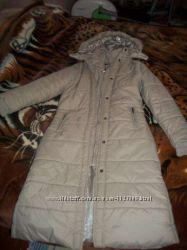 Длинное пальто дутик теплый