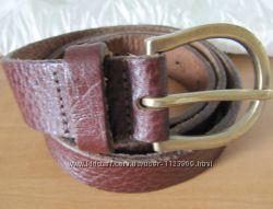 Ремень пояс коричневый кожаный Next S