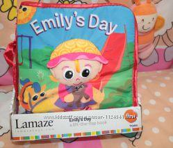 Развивающая игрушка первый подарок малышу мягкая книжка EmilysDay от Lamaze