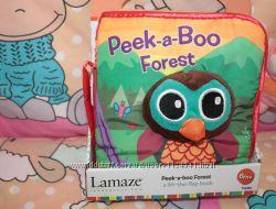 Развивающая игрушка первый подарок мягкая книжка Peek-a-Boo Forest , Lamaze