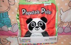 Развивающая игрушка первый подарок мягкая книжка Pandas Pals от Lamaze