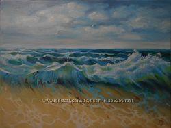 Картина маслом, морской пейзаж