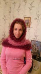 итальянский бордовый снуд-шарф