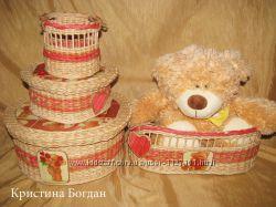 Плетеный комплект Мишки