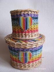 Плетеный комплект Радужный