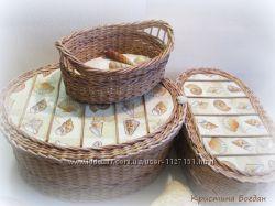 Комплект плетеных корзин Ракушки