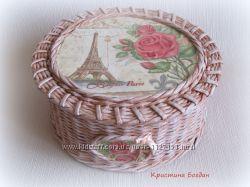 Шкатулка Париж и розы