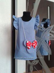 Платье с воланами стильная модель, можно заказать такоеже платье для мамы